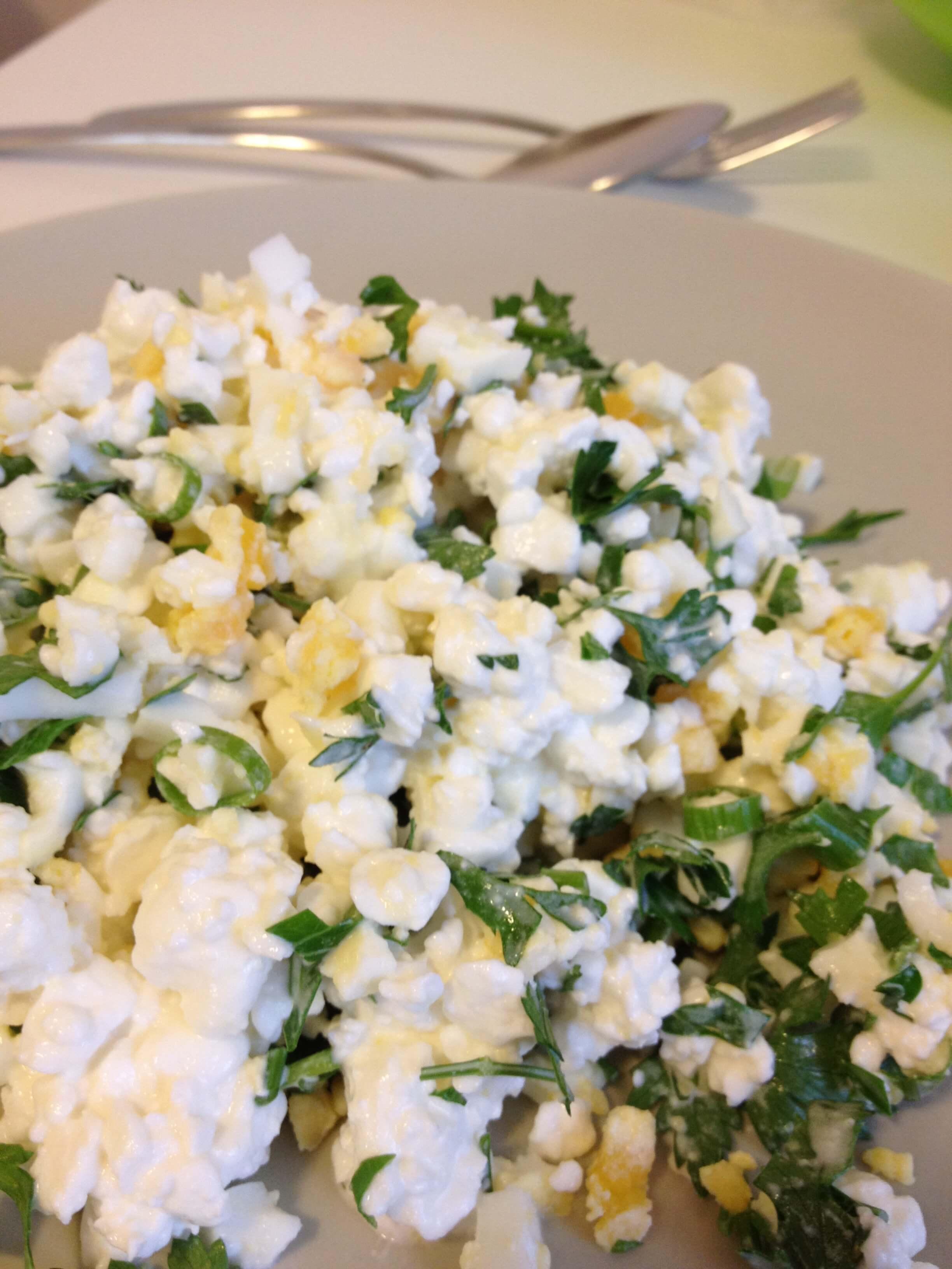Вкусный салат - «Ранний снег» - Простой рецепт Negoloday.ru