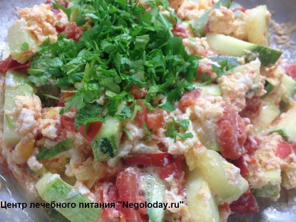 Вкусный омлет с помидорами и кабачками. Центр лечебного питания www.negoloday.ru