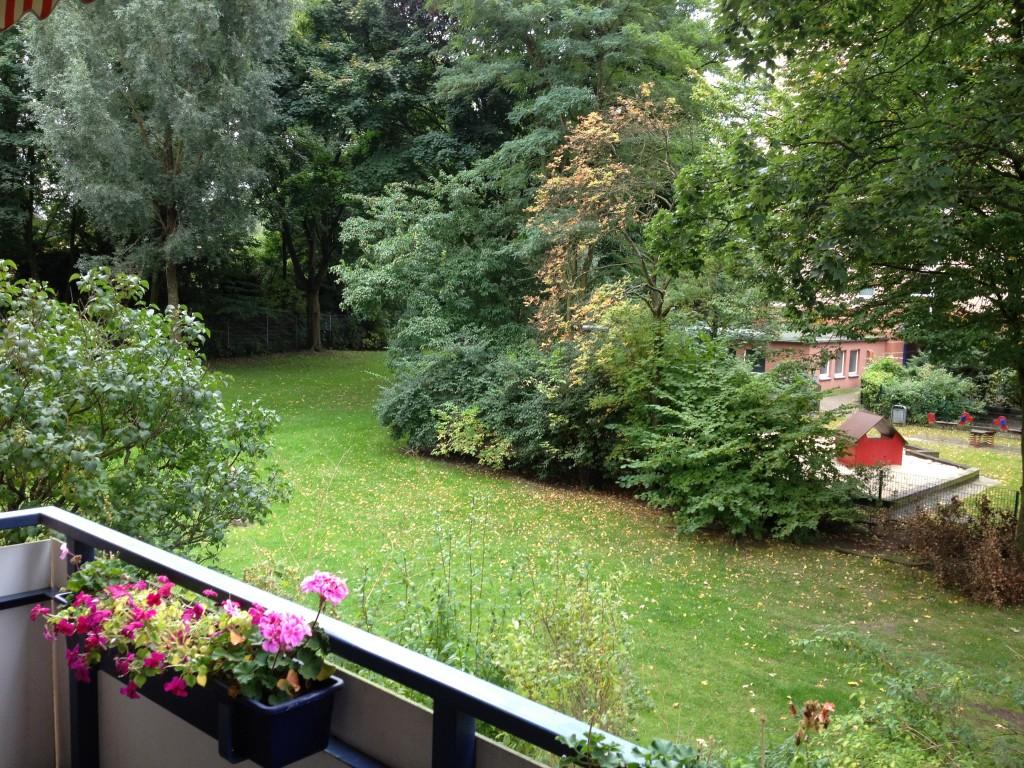 Вид с балкона. Гамбург. Германия.