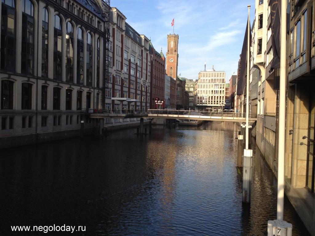 Каналы и мосты. Гамбург. Германия октябрь 2012г.
