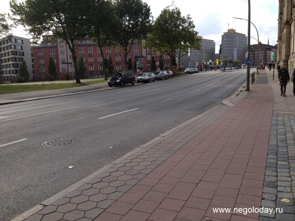 Тротуары Гамбурга Германия