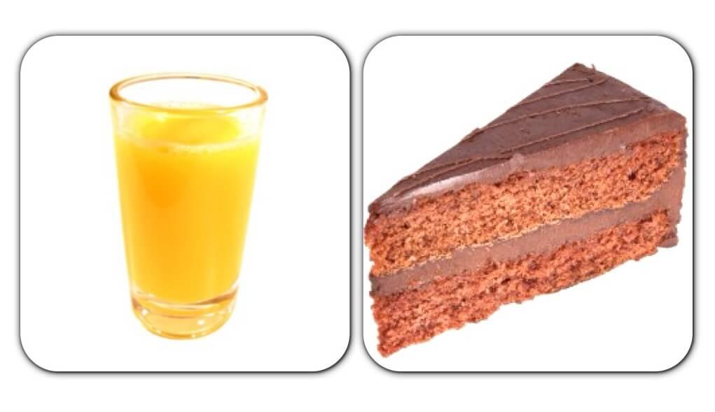 Сок и тортик