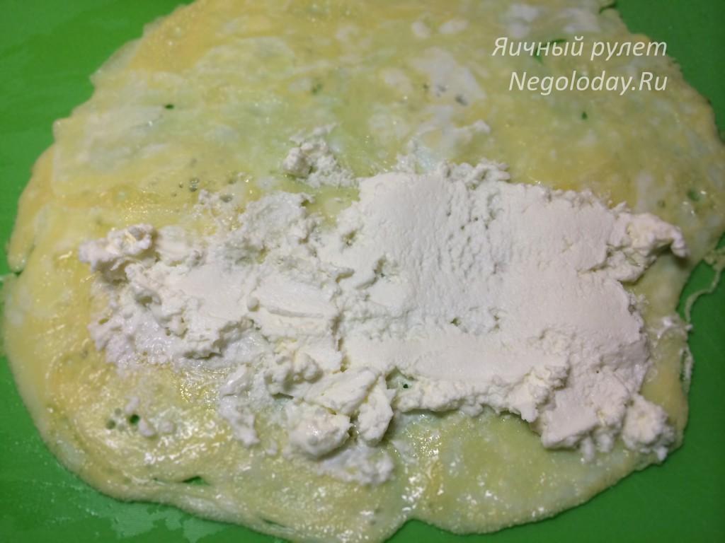 Намажьте творожный сыр