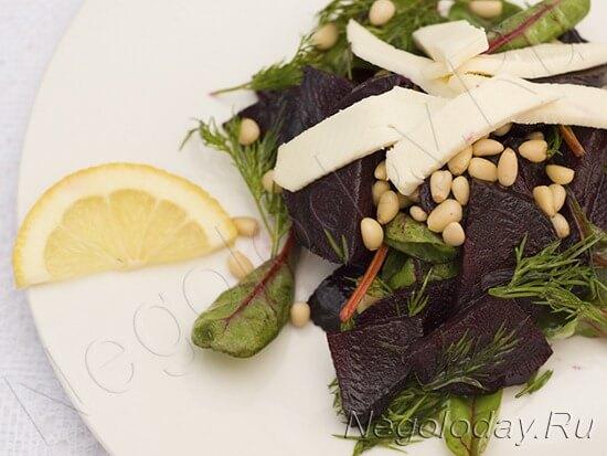 Хотите румяные щёчки? Приготовьте  вкусный низкокалорийный салат со свеклой— и будет вам здоровый румянец