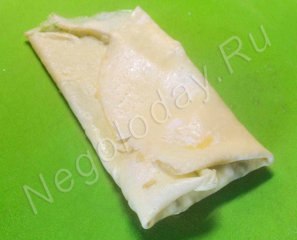 Аккуратно заверните блины – рецепт центра Negoloday.Ru