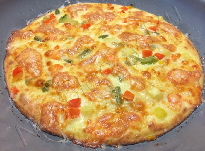 Ка сделать пиццу без теста с овощами и сыром