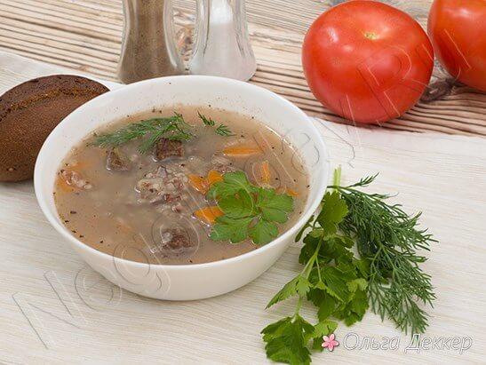 Диетический суп с телятиной