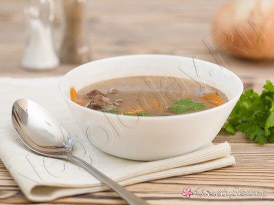 Низкокалорийный суп из телятины и риса