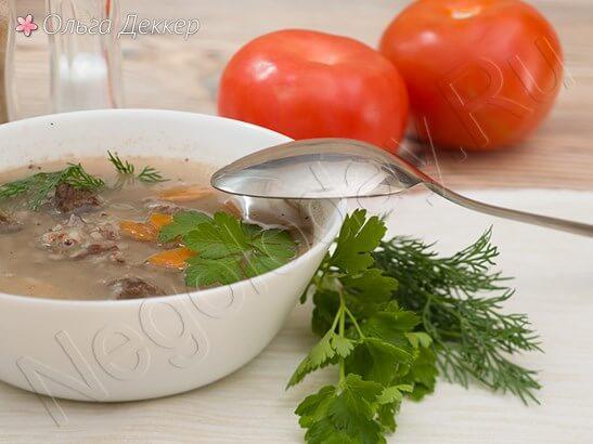 Суп из телятины