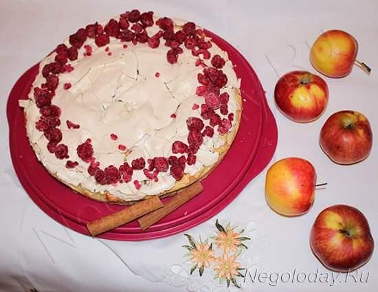 Пирог из творога и яблок в духовке —  простой рецепт шикарного десерта