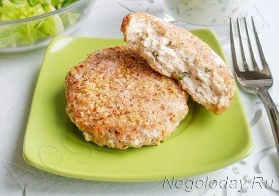 котлеты куриные с сыром в духовке рецепт с фото