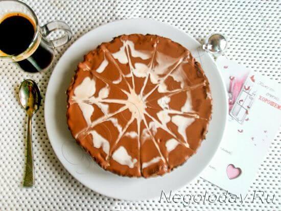 Шоколадный чизкейк из творога — прекрасная мечта на вашей тарелке