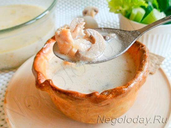 низкокалорийный суп с сыром