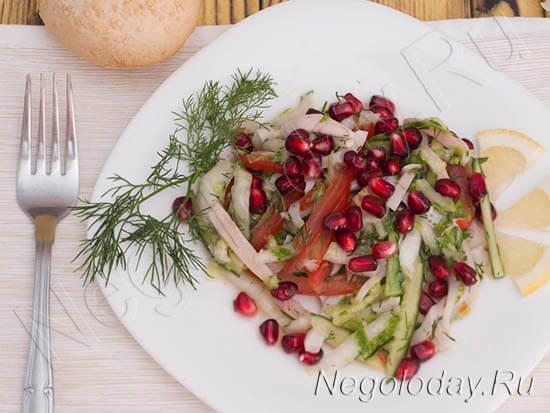как приготовить салат из кальмара низкокалорийный
