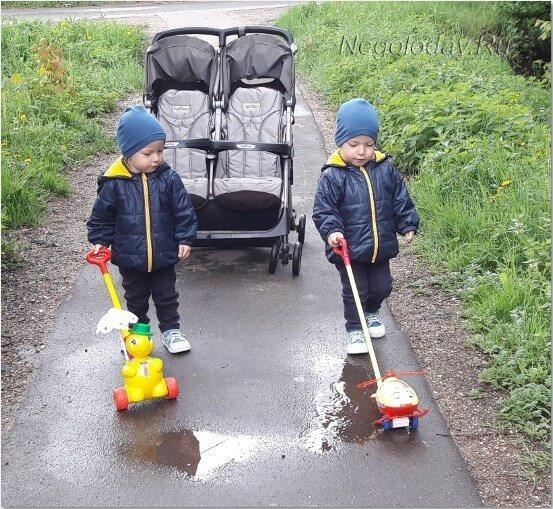 Малыши вместе гуляют