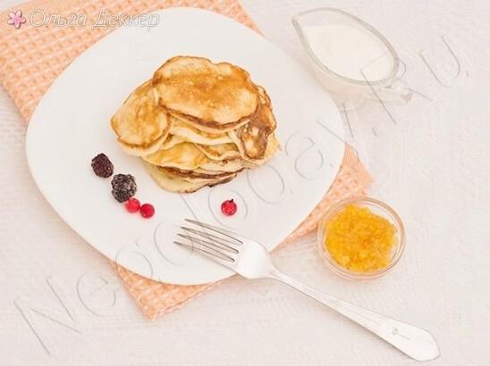 Оладьи с творогом - прекрасный завтрак, полдник и просто перекус