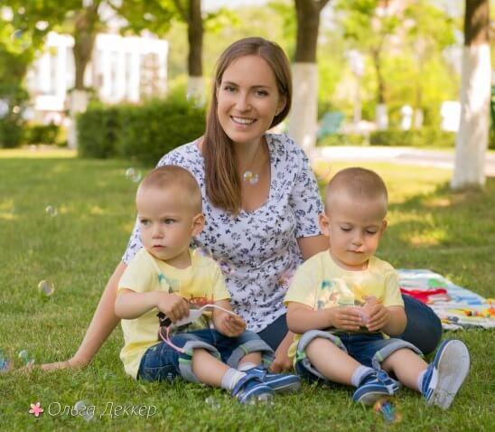 Ольга Деккер и ее дети