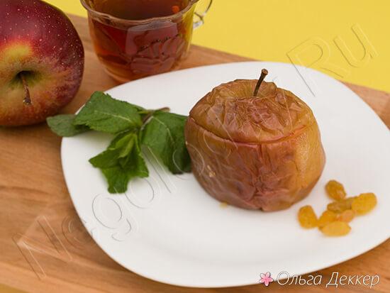 Десерт из яблока и творога