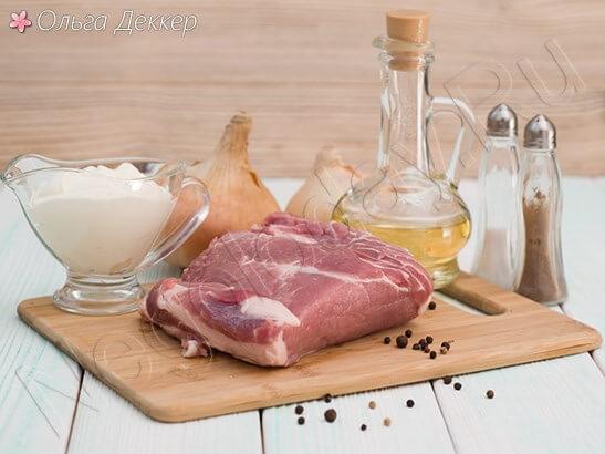 Продукты для бифстроганов из свинины