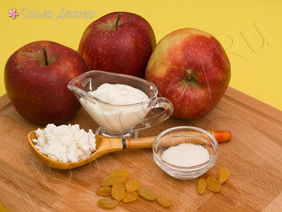 Продукты для десерта из яблок