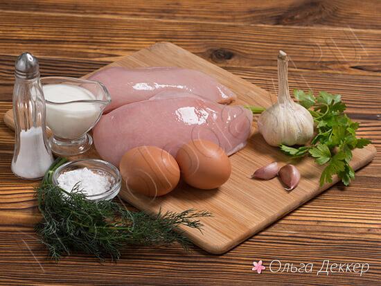 Продукты для котлет из куриной грудки