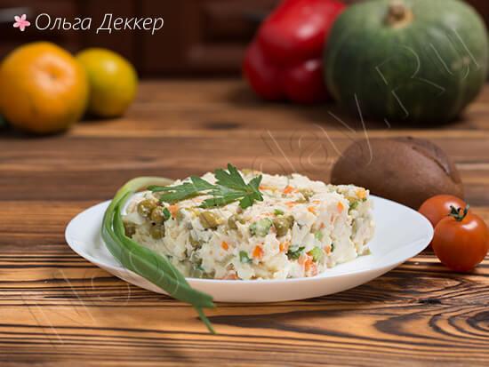 Диетический Оливье и овощи