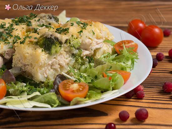 Куриная грудка с брокколи и цветной капустой