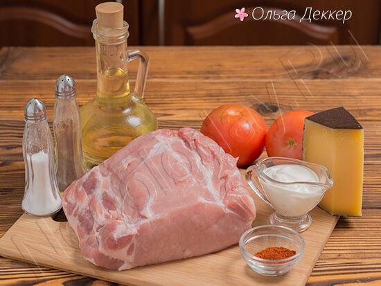 Продукты для блюда Эскалоп из свинины