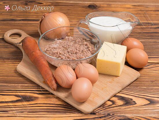 Продукты для салата мимоза с тунцом