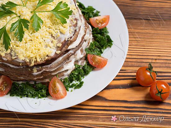 Низкокалорийный пирог из печени