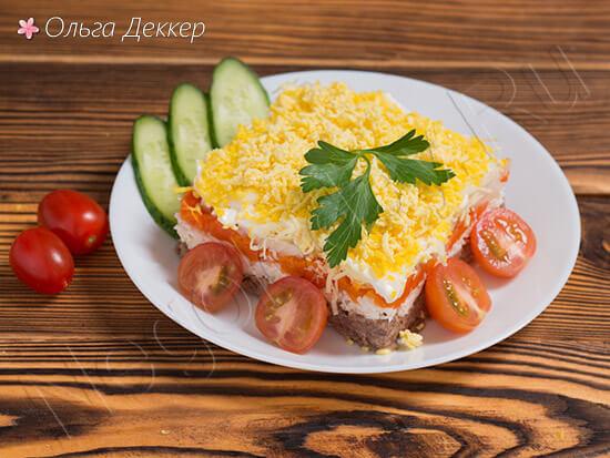Вкусный салат мимоза с тунцом