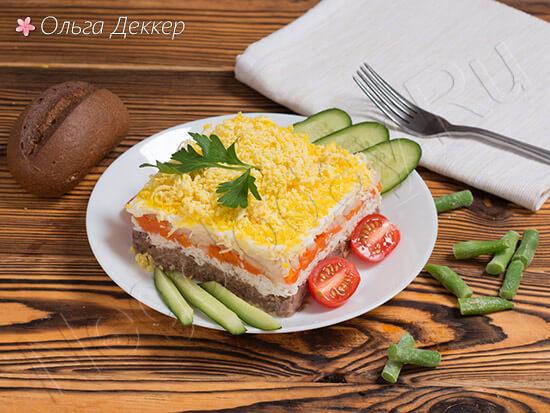 салат мимоза с тунцом с овощами
